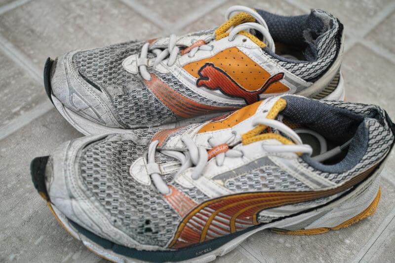 洗濯後の靴
