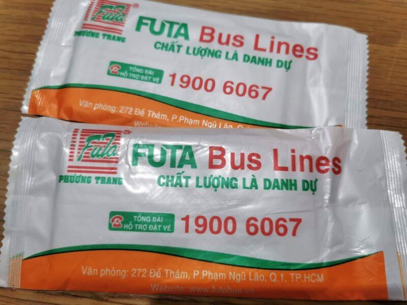 FUTA Bus Lines / Phuong Trangのお手拭き