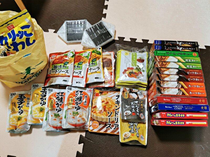 備蓄用の食料品