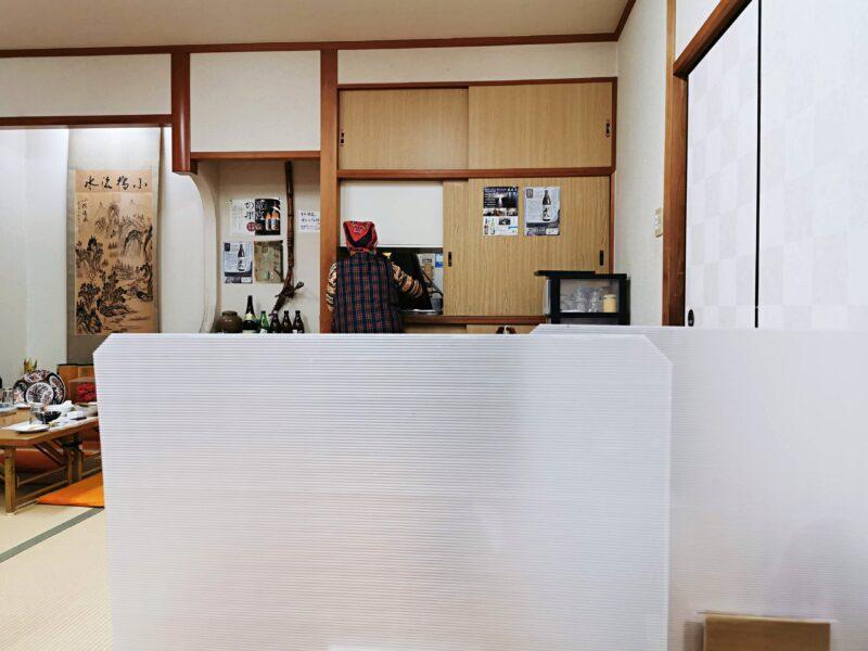 「民宿たかよし」の食堂
