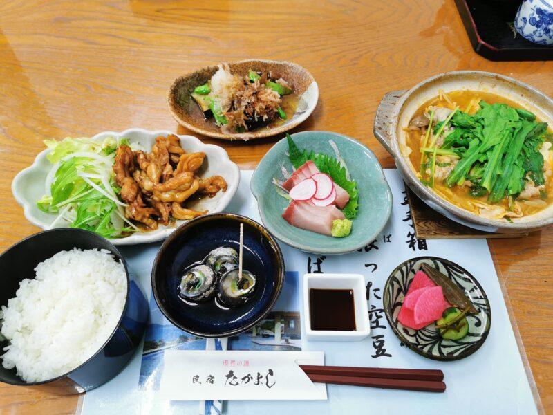 「民宿たかよし」の夕食(3日目)
