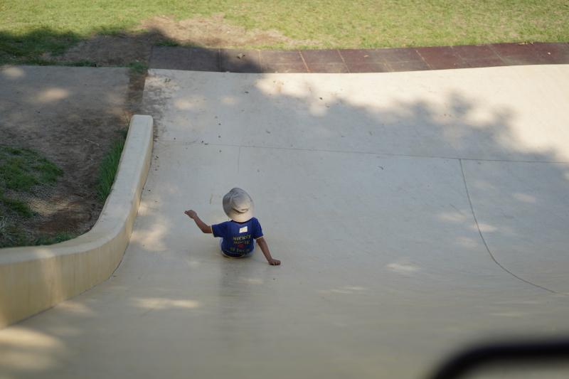 「笛吹市八代ふるさと公園」の滑り台
