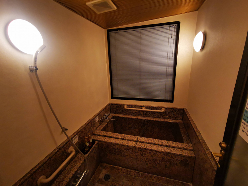 「ホテル石庭」和洋室の浴室