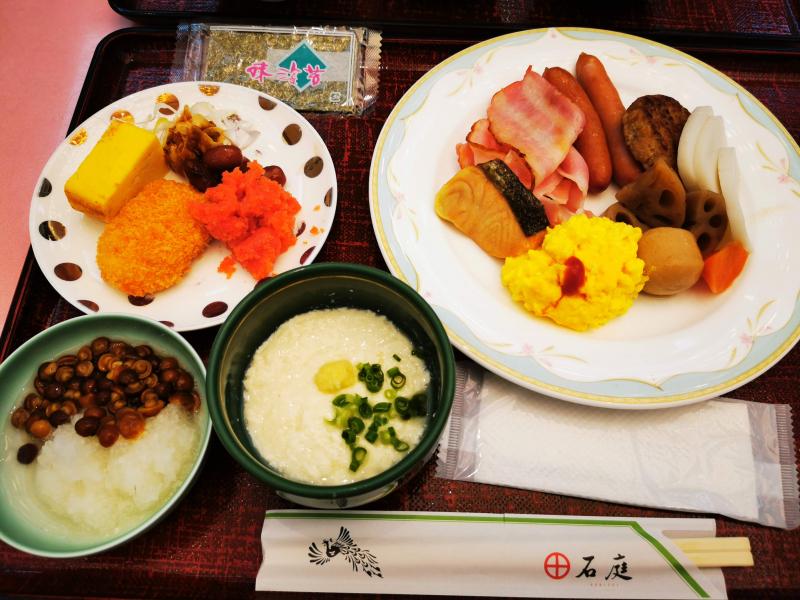 「ホテル石庭」の朝食