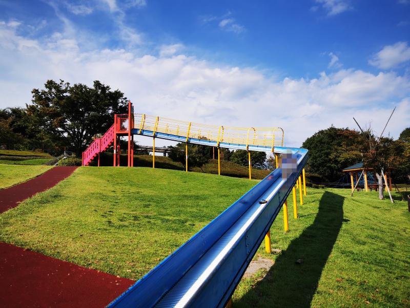 「曽根丘陵公園」のローラー滑り台